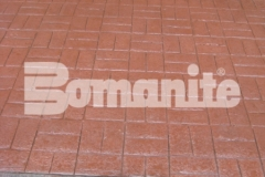 Connecticut Bomanite Systems' award-winning installation of 31,450 square feet of Bomanite Basketweave Brick imprinted concrete was an arduous effort that produced a stunning hardscape surface throughout the Tower Square pavilion.