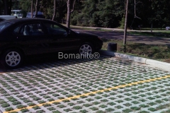 Bomanite Grasscrete Concrete at the Army National Guard Parking Lot